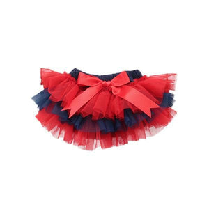 Team Colors Red and Navy Ruffle Tutu Bloomer