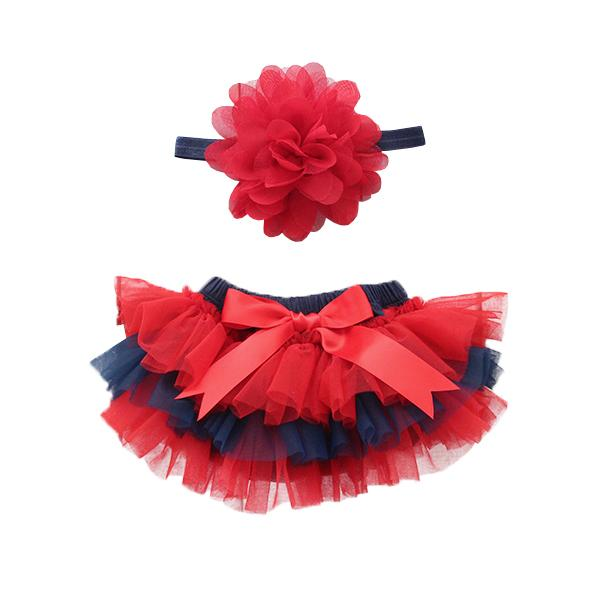 Team Colors Red and Navy Ruffle Tutu Bloomer-Mila & Rose ®