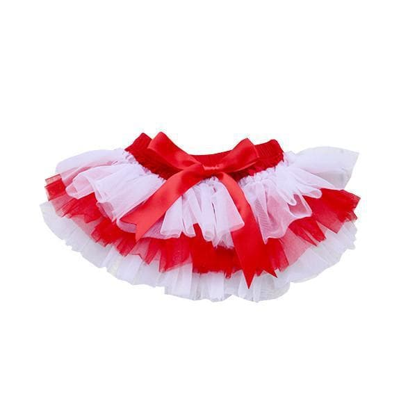 Team Colors Red and White Ruffle Tutu Bloomer