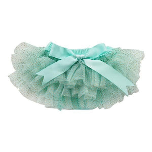 Aqua and Gold Glitter Ruffle Tutu Bloomer