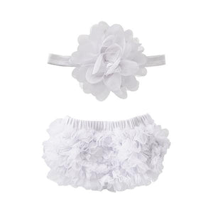 White Ruffle Bum Bloomer-Mila & Rose ®