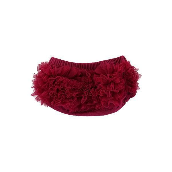 Maroon Ruffle Bottom Bloomer