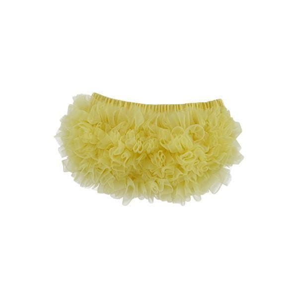 Yellow Ruffle Bottom Bloomer