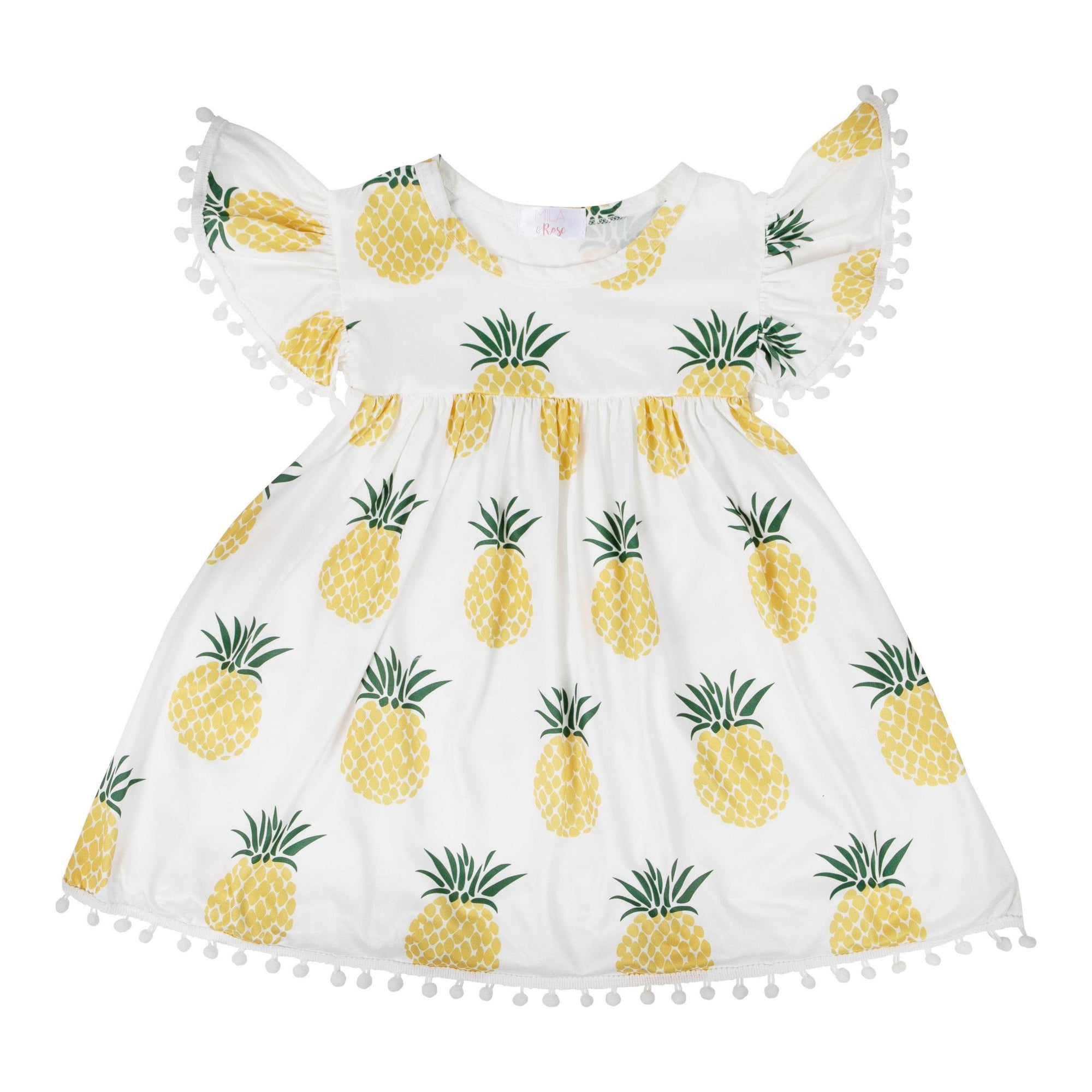 Pineapple Pom Pom Dress-Mila & Rose ®