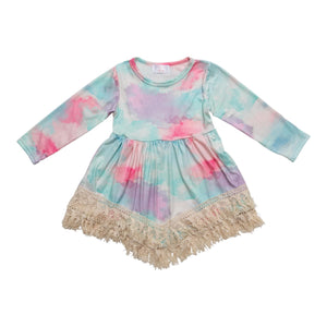 Watercolor Wonder Boho Fringe Dress-Mila & Rose ®