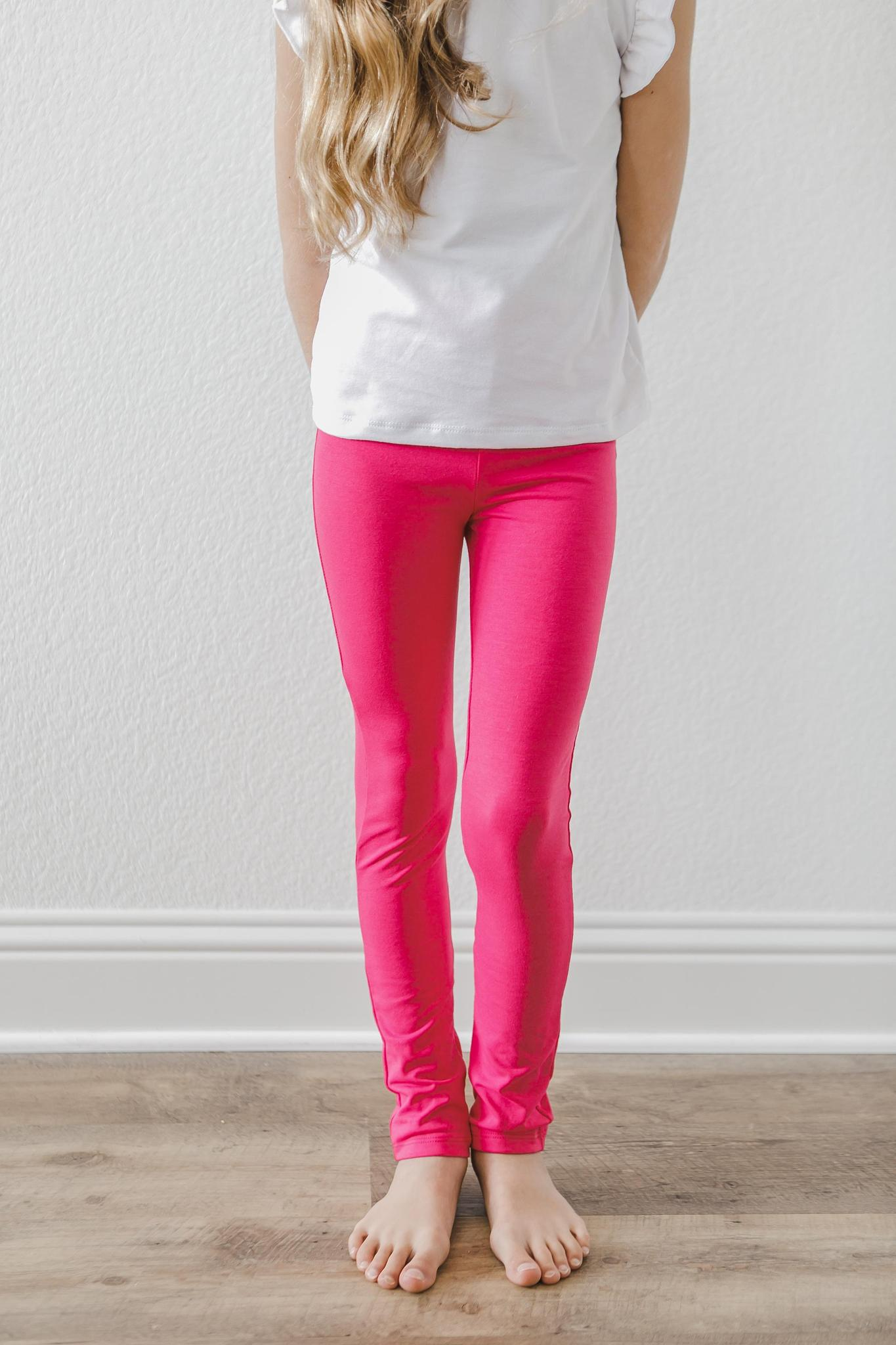 Hot Pink Leggings-Mila & Rose ®