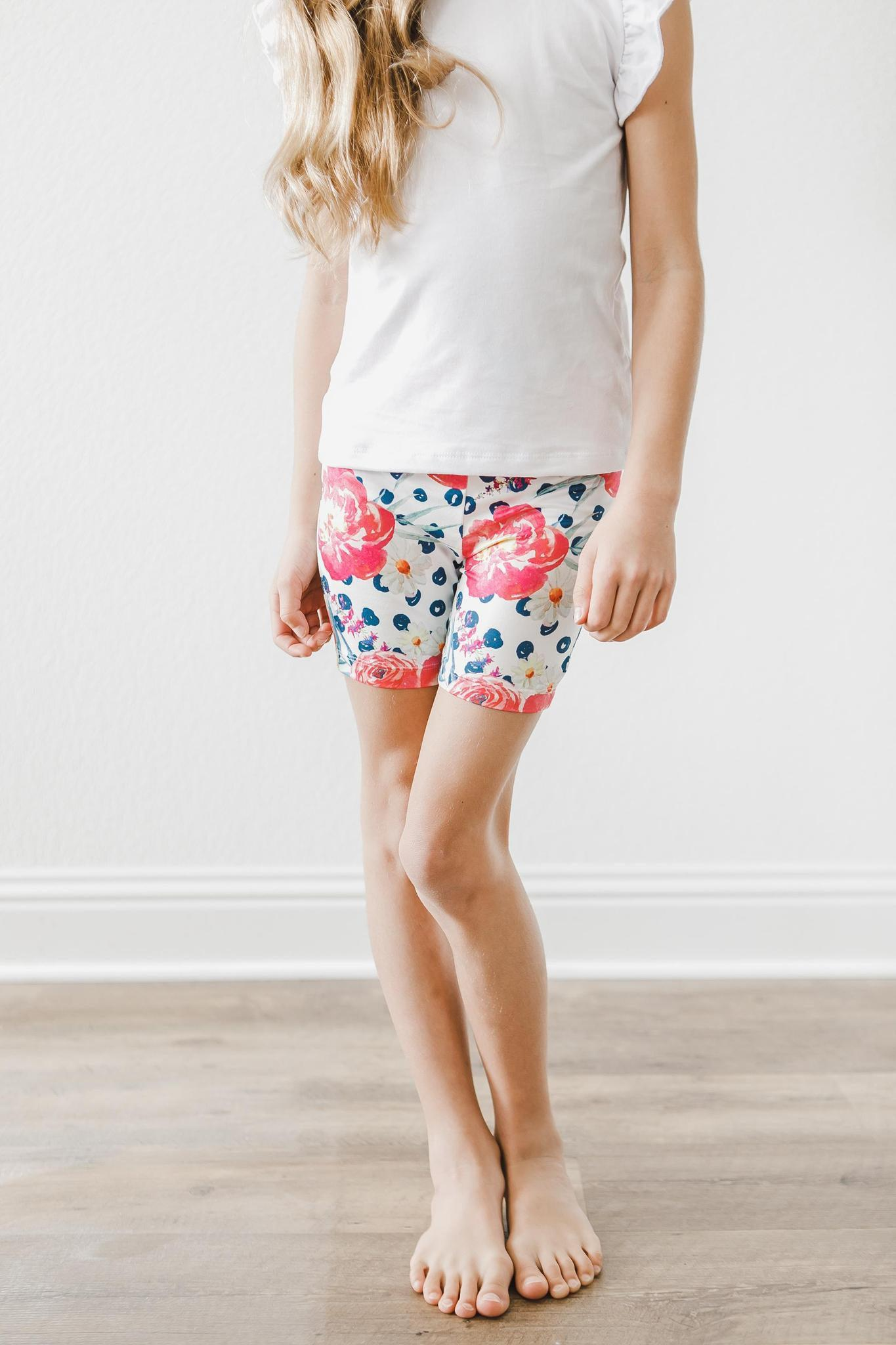 Pop of Color Twirl Shorts-Mila & Rose ®