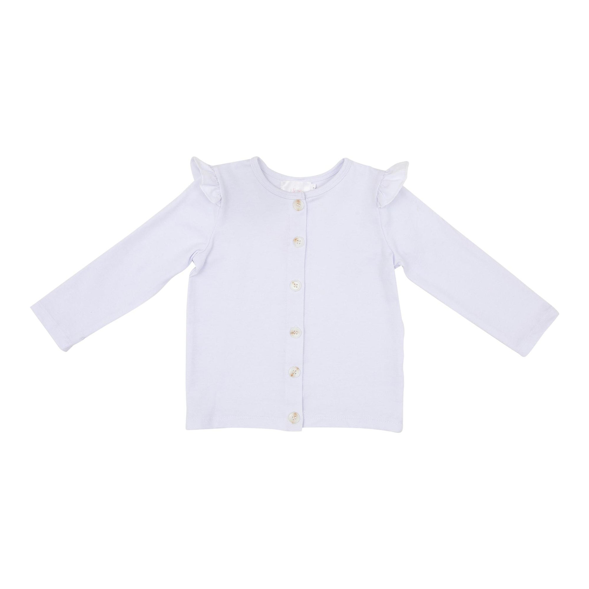 White Ruffle Cardigan-Mila & Rose ®