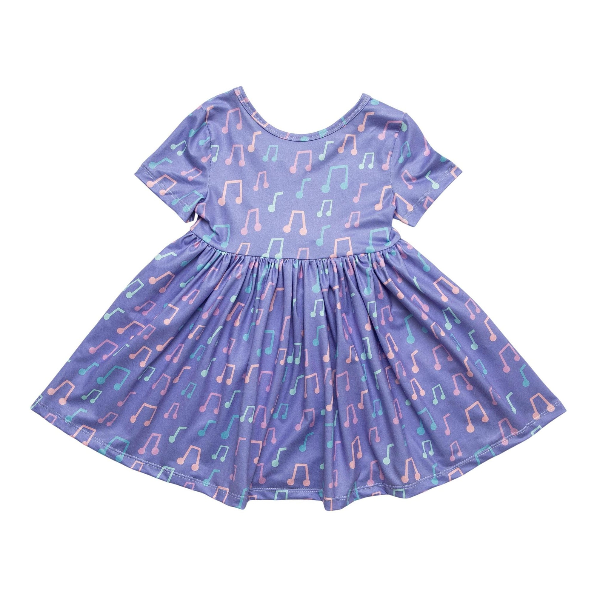 Music to My Ears Short Sleeve Twirl Dress-Mila & Rose ®
