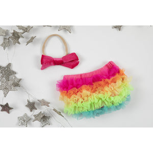 Neon Rainbow Ruffle Bum Bloomer-Mila & Rose ®