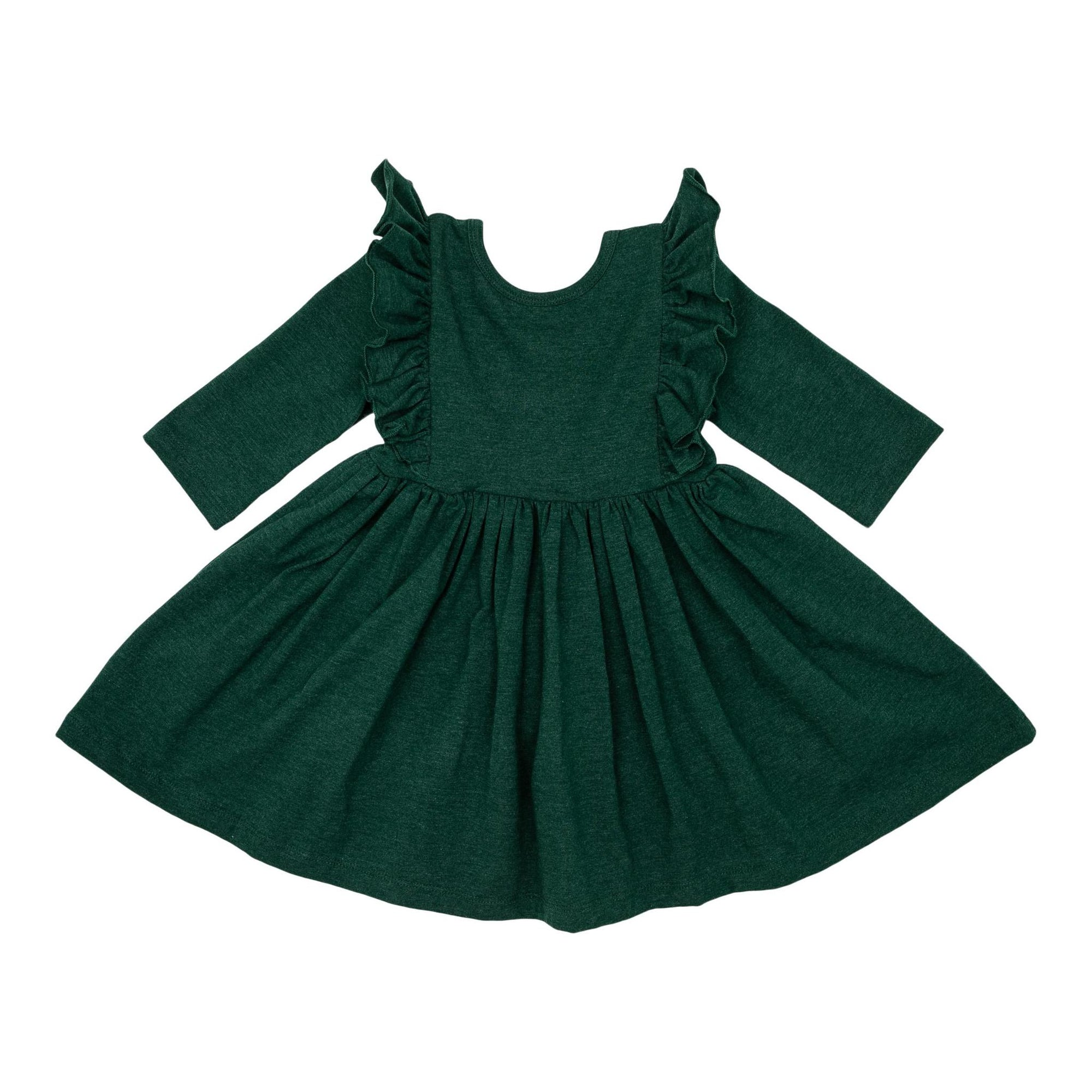 Spruce Heather Ruffle Twirl Dress-Mila & Rose ®