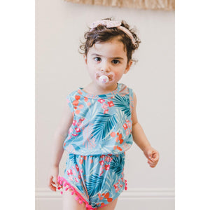 Totally Tropical Pom Pom Romper-Mila & Rose ®