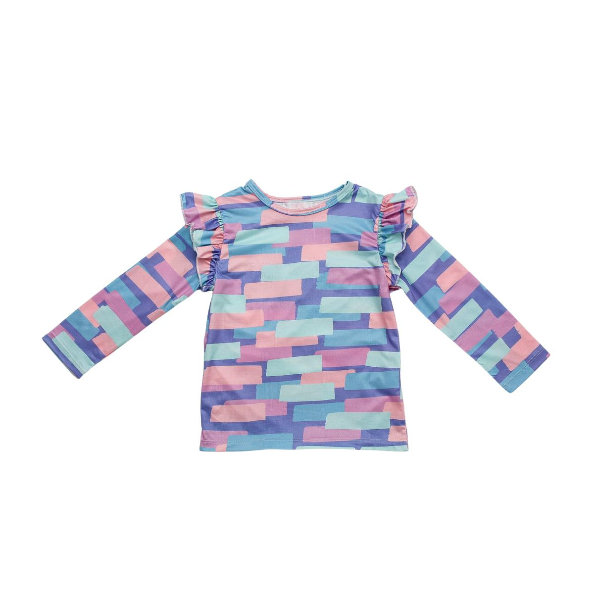 Real Retro L/S Ruffle Tee-Mila & Rose ®