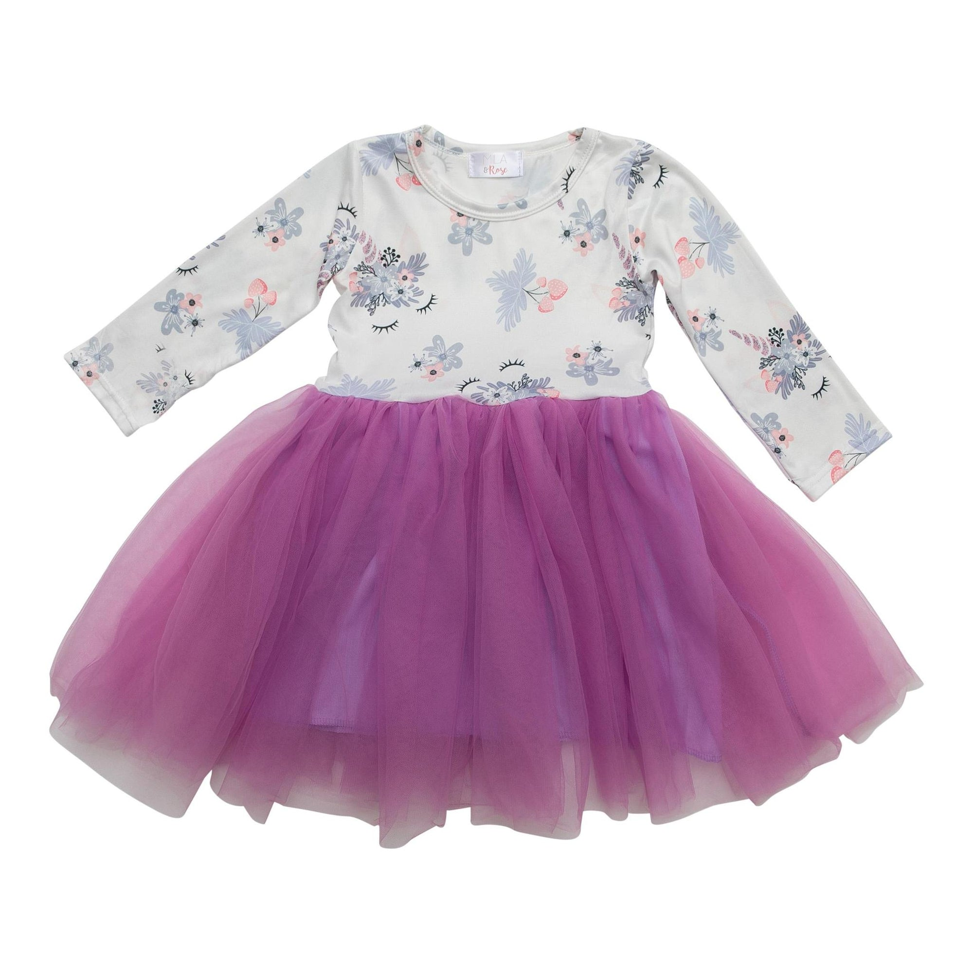 Lilac Unicorn Dream Tutu Dress-Mila & Rose ®