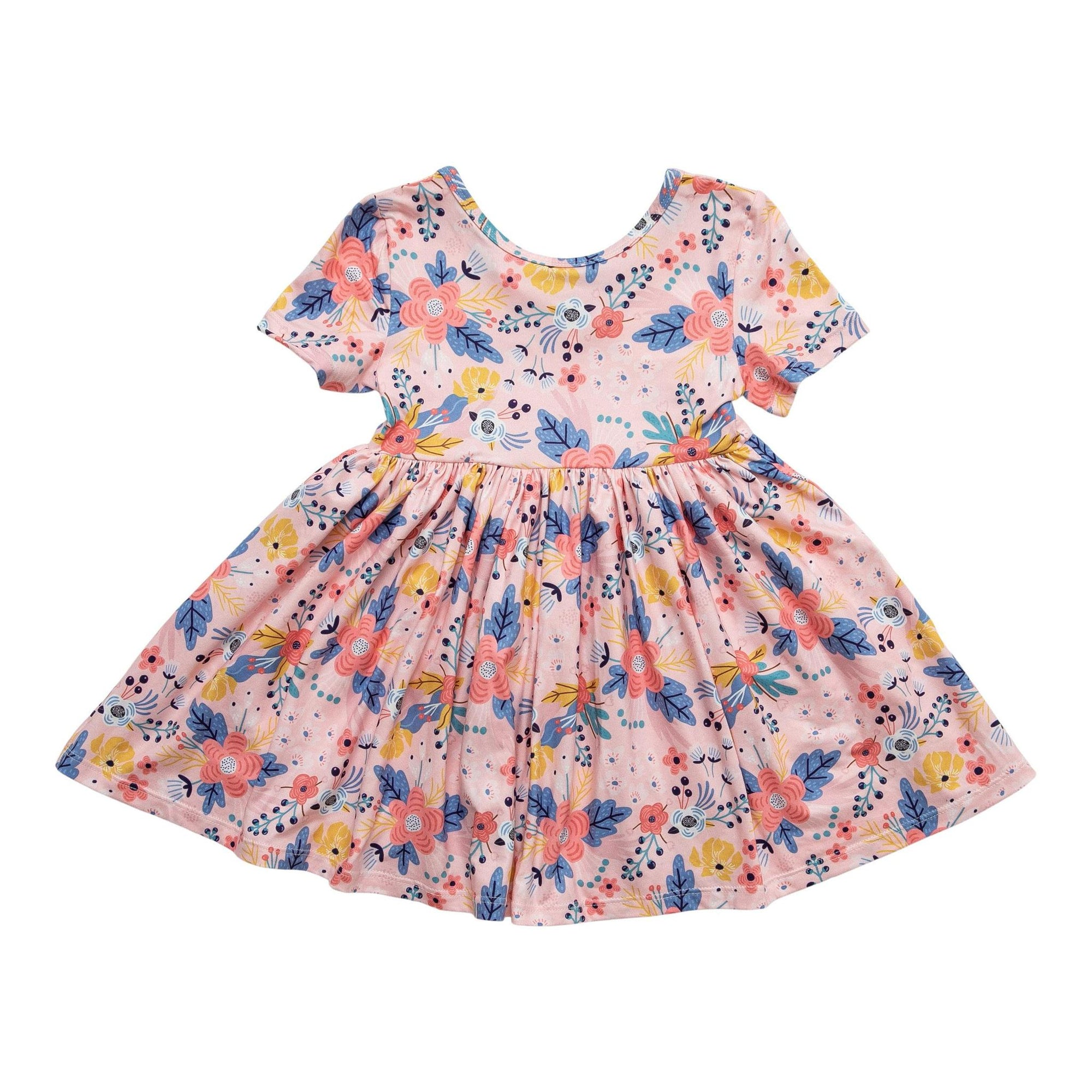 Field of Flowers Short Sleeve Twirl Dress-Mila & Rose ®
