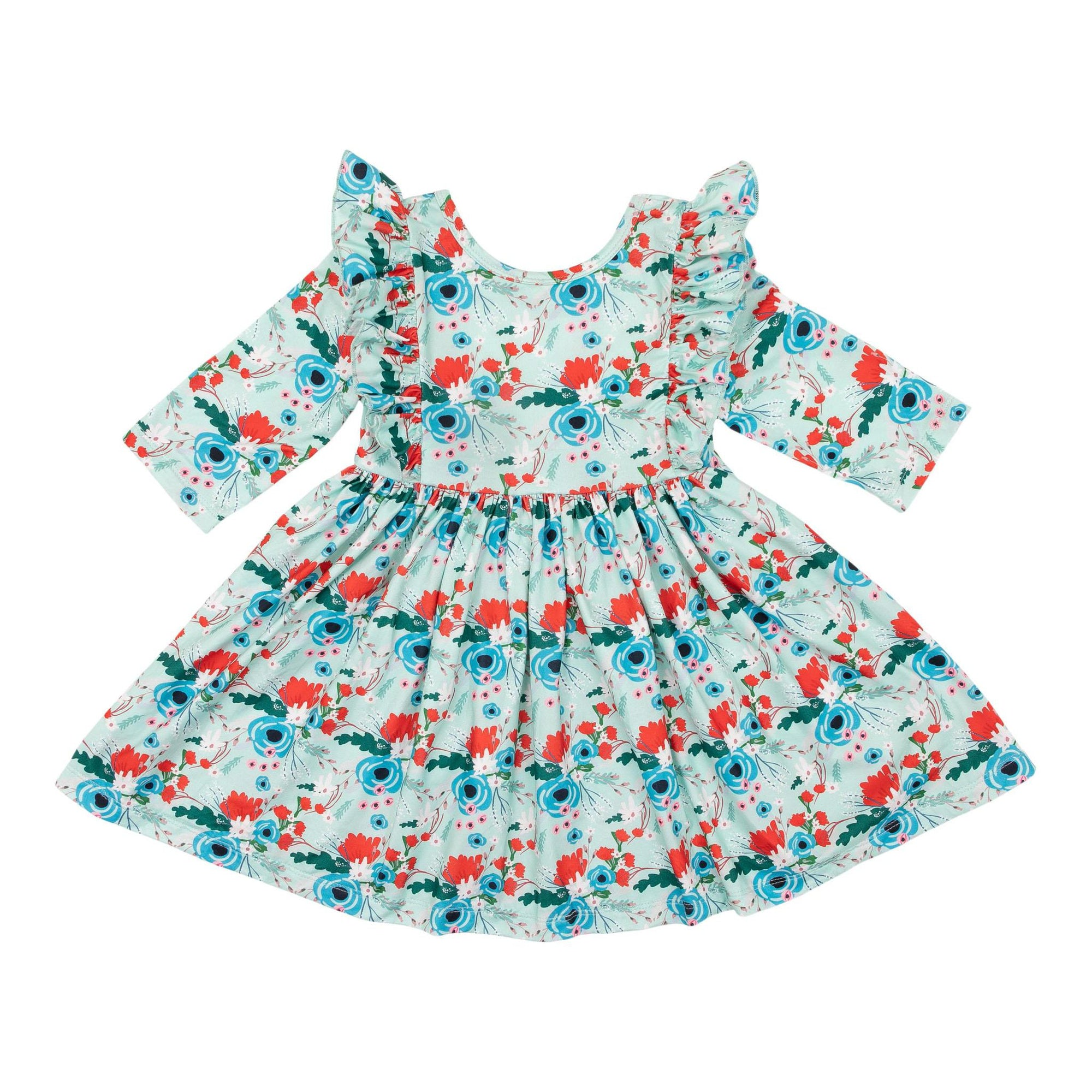 Rose Garden Ruffle Twirl Dress-Mila & Rose ®