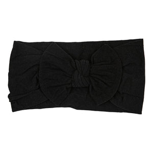 Onyx Black Nylon Bow Headwrap-Mila & Rose ®