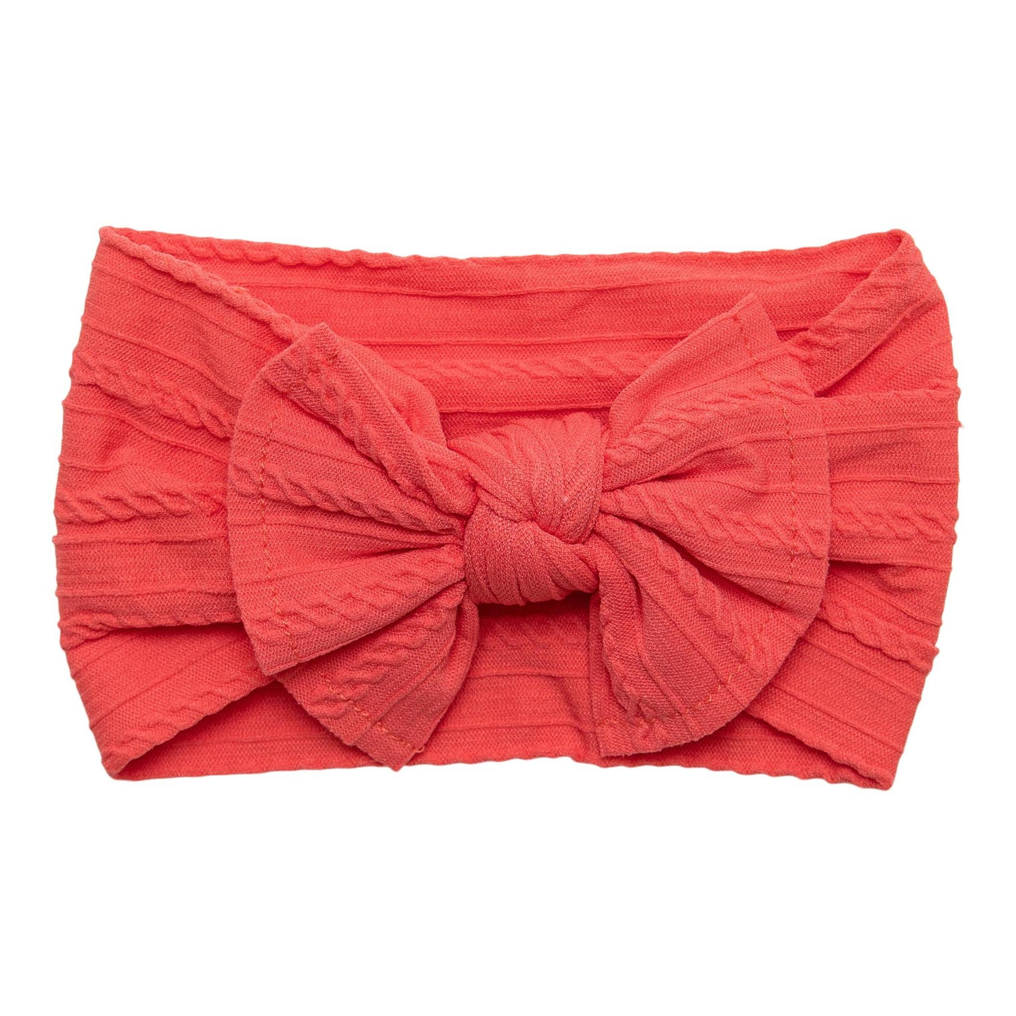 Coral Cable Knit Nylon Headwrap-Mila & Rose ®
