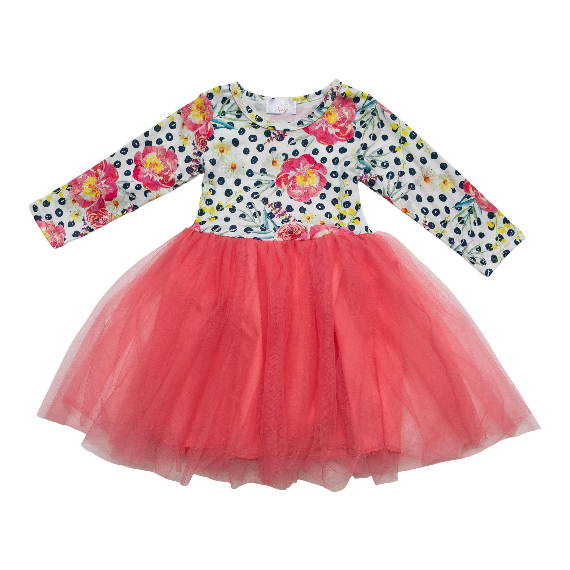 Pop of Color Tutu Dress-Mila & Rose ®