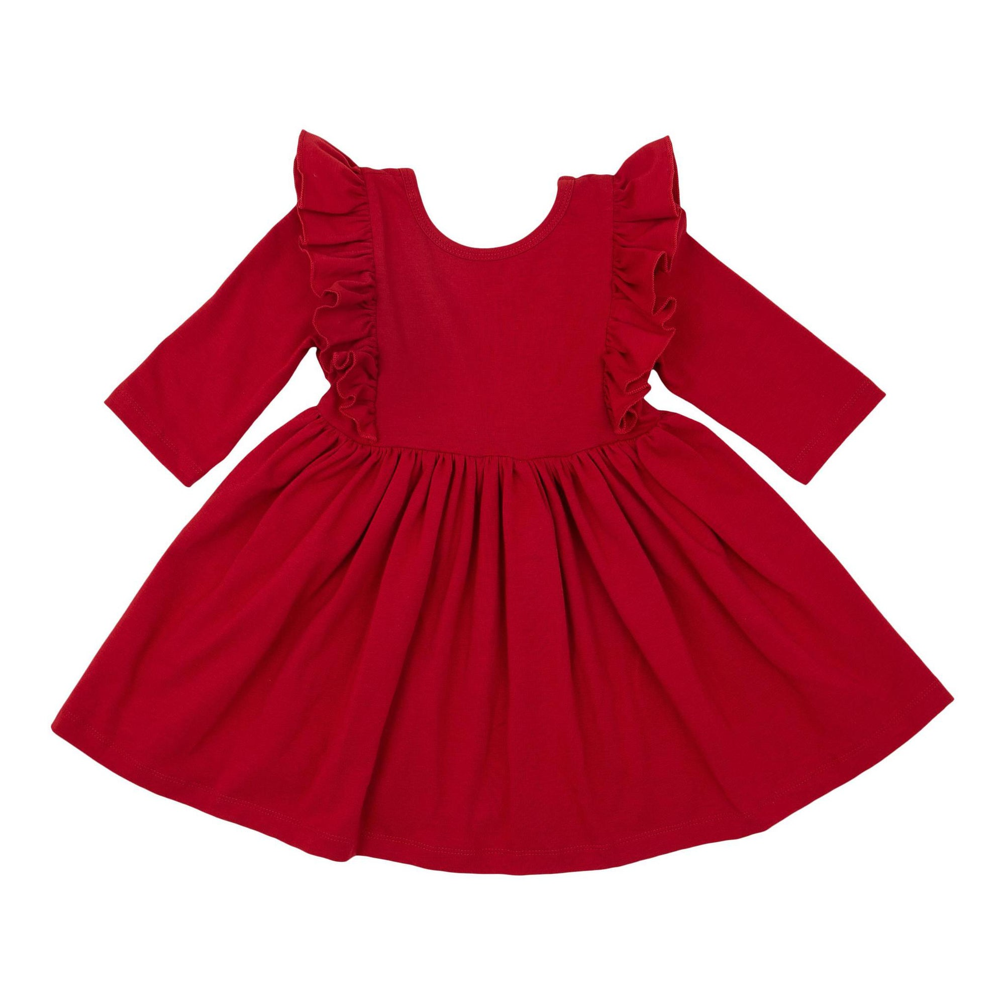 Scarlet Ruffle Twirl Dress-Mila & Rose ®