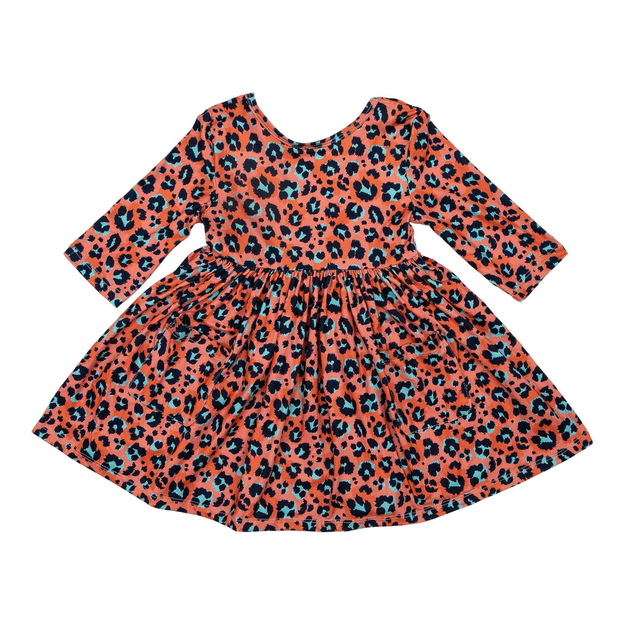 Spot On 3/4 Sleeve Pocket Twirl Dress-Mila & Rose ®