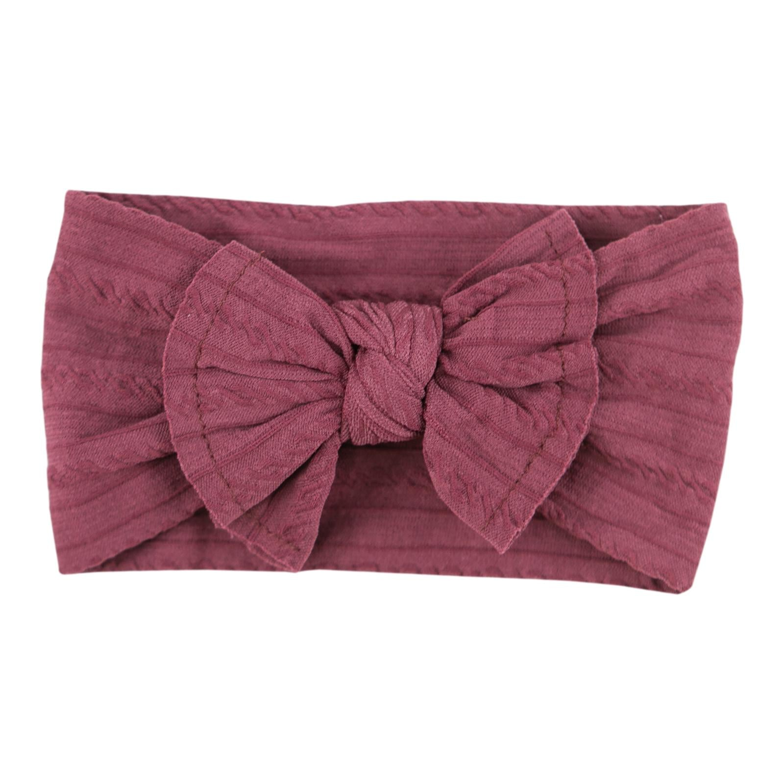Cranberry Cable Knit Nylon Headwrap-Mila & Rose ®