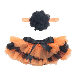 Orange & Black Halloween Tutu Bloomer-Mila & Rose ®