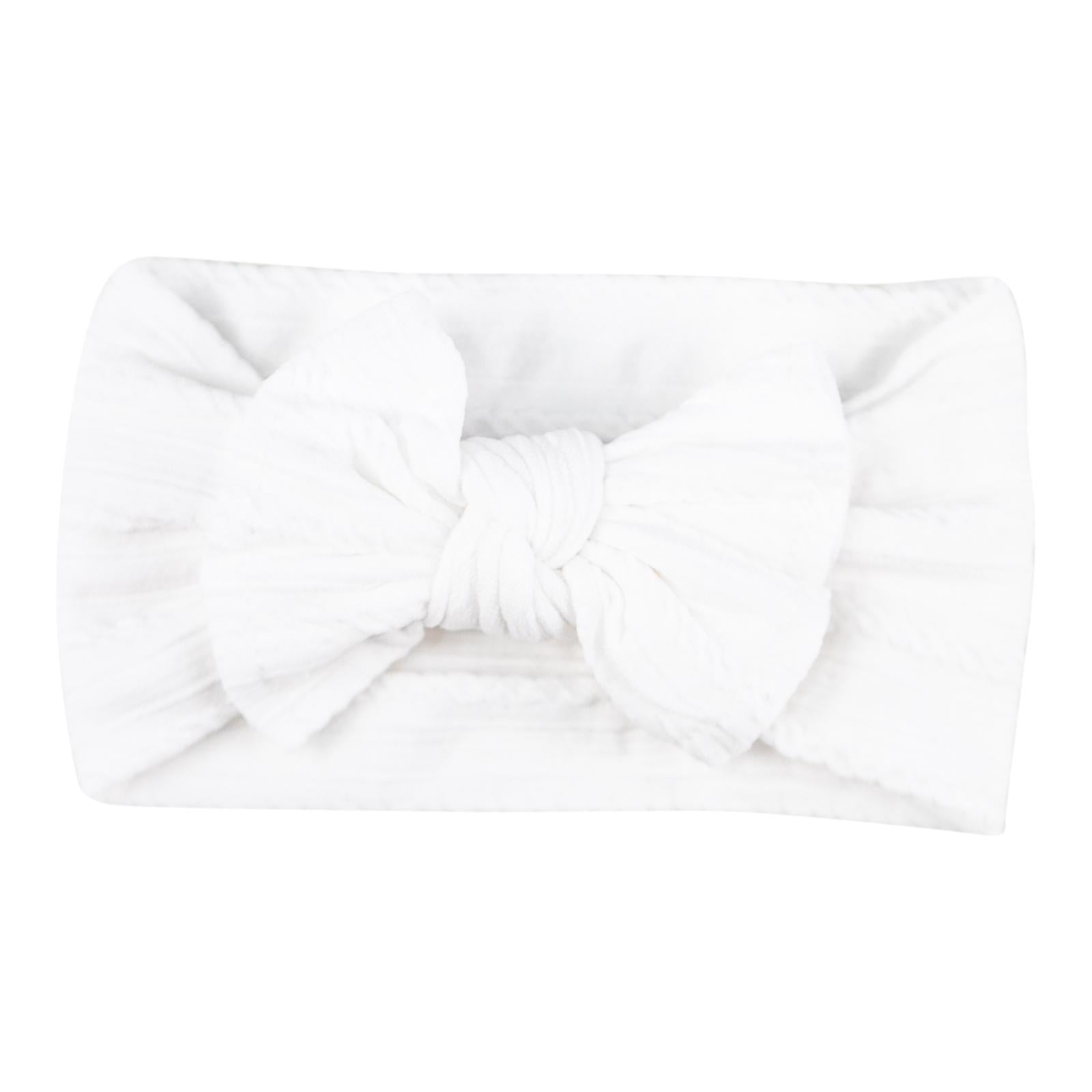 Beluga White Cable Knit Nylon Headwrap-Mila & Rose ®