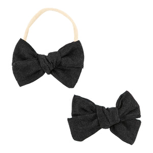 Black Cord Bow-Mila & Rose ®