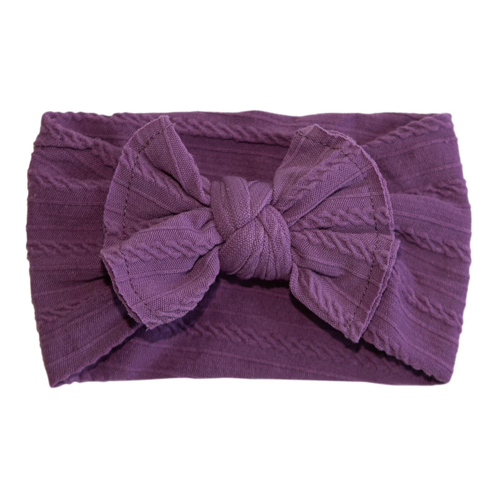 Sugar Plum Cable Knit Nylon Headwrap-Mila & Rose ®