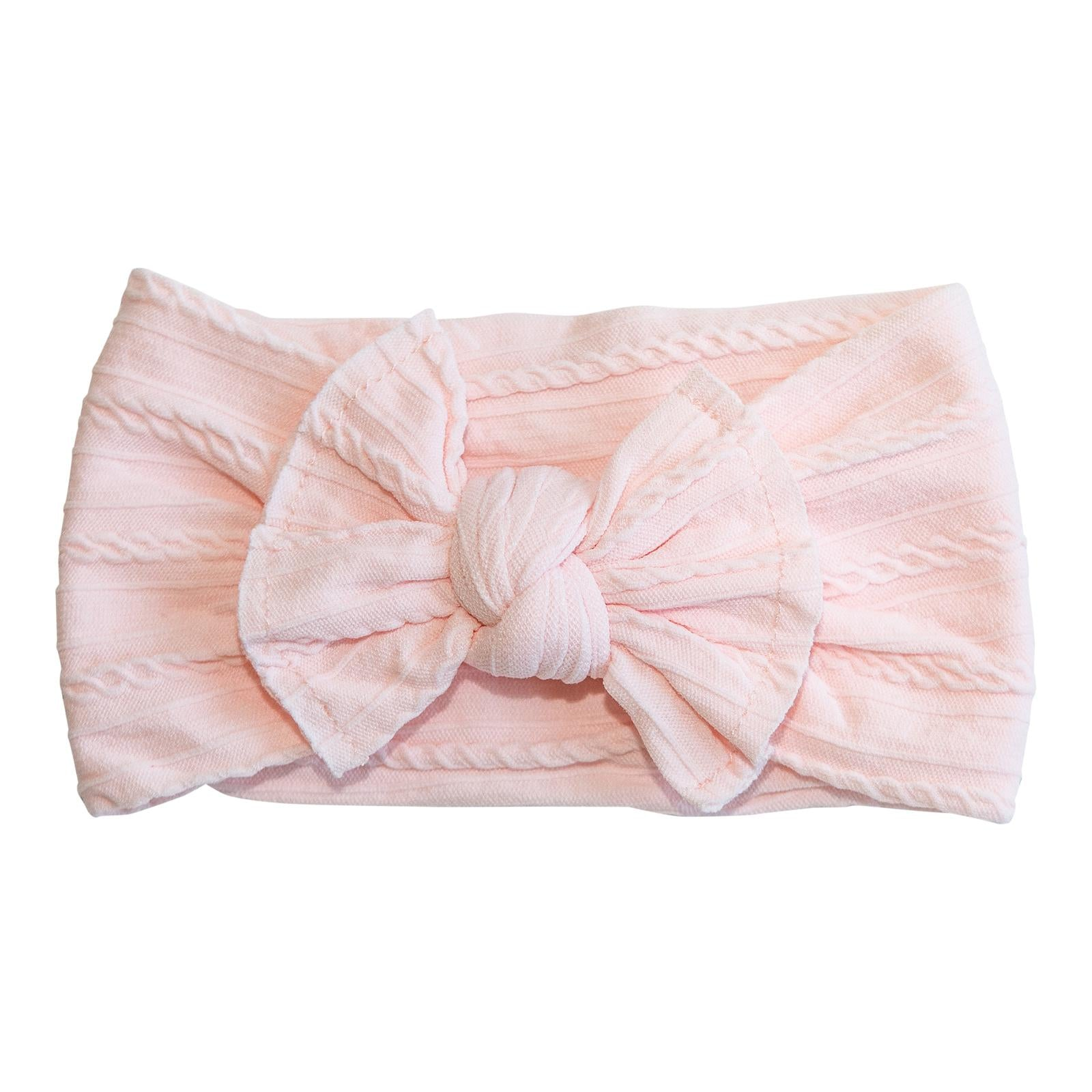 Ballerina Pink Cable Knit Nylon Headwrap-Mila & Rose ®