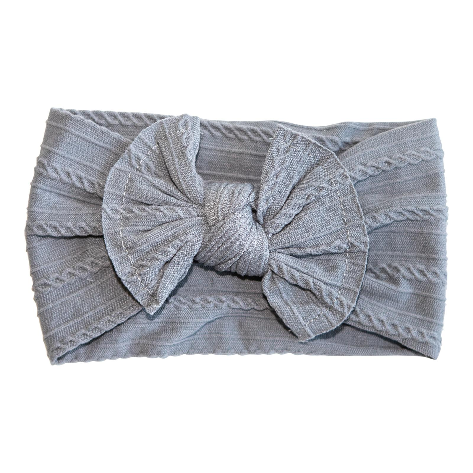 Koala Gray Cable Knit Nylon Headwrap-Mila & Rose ®