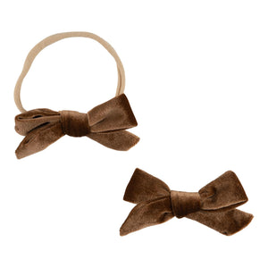 Hot Chocolate Velvet Bow-Mila & Rose ®