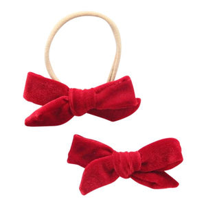Ruby Red Velvet Bow-Mila & Rose ®