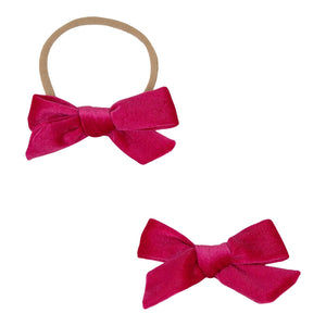 Hot Pink Velvet Bow-Mila & Rose ®