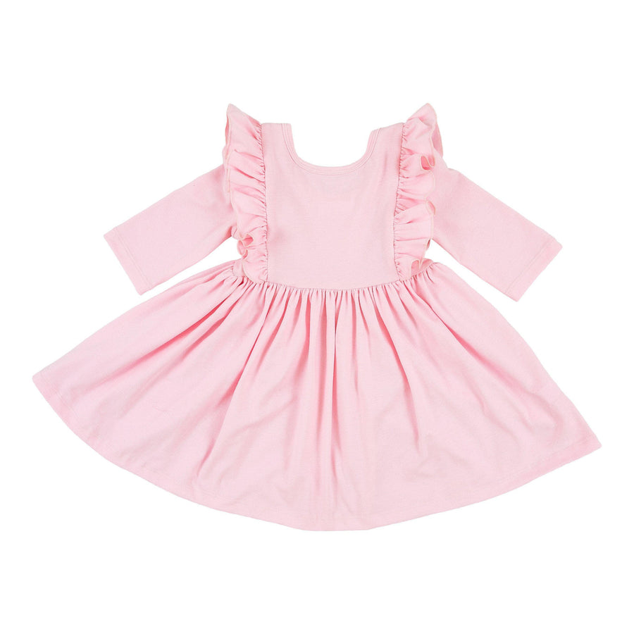Light Pink Ruffle Twirl Dress-Mila & Rose ®