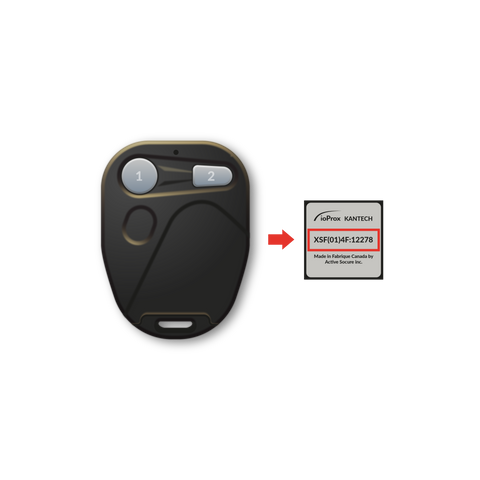 Duplicate Your ioProx Kantech Remote Copy by Serial Number (RFID function only not remote) - SUMOKEY
