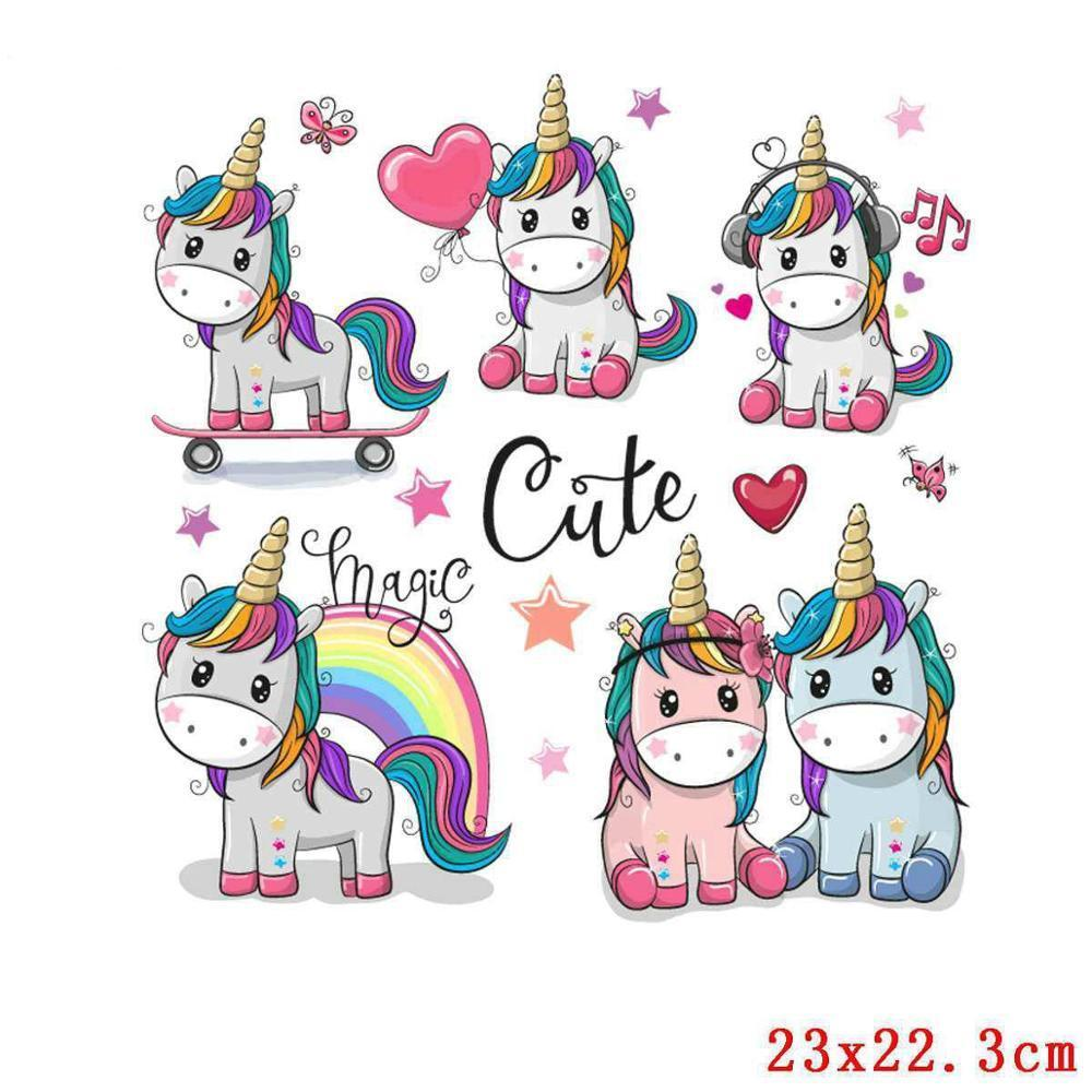 FREE - Unicorn DIY Heat Transfer / Iron On Stickers On T-Shirt