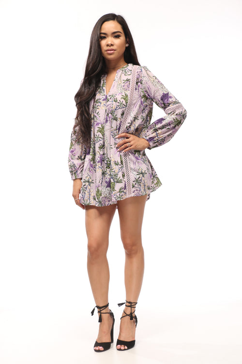 All in Lavender Tunic Dress - OWLXFISH