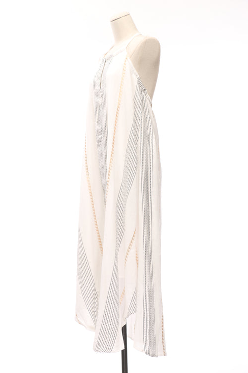 Hannah Striped Halter Maxi Dress - OWLXFISH