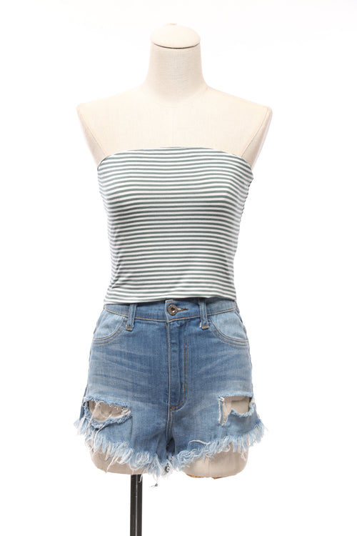 Joana Striped Crop Top - OWLXFISH
