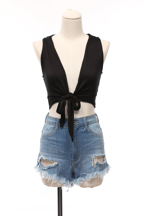 Lilianna Tie Crop Top