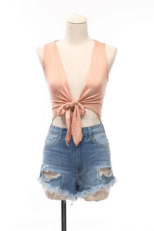 Lilianna Tie Crop Top - OWLXFISH