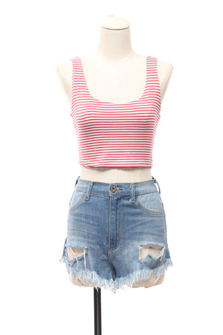Stripes And More Crop Top