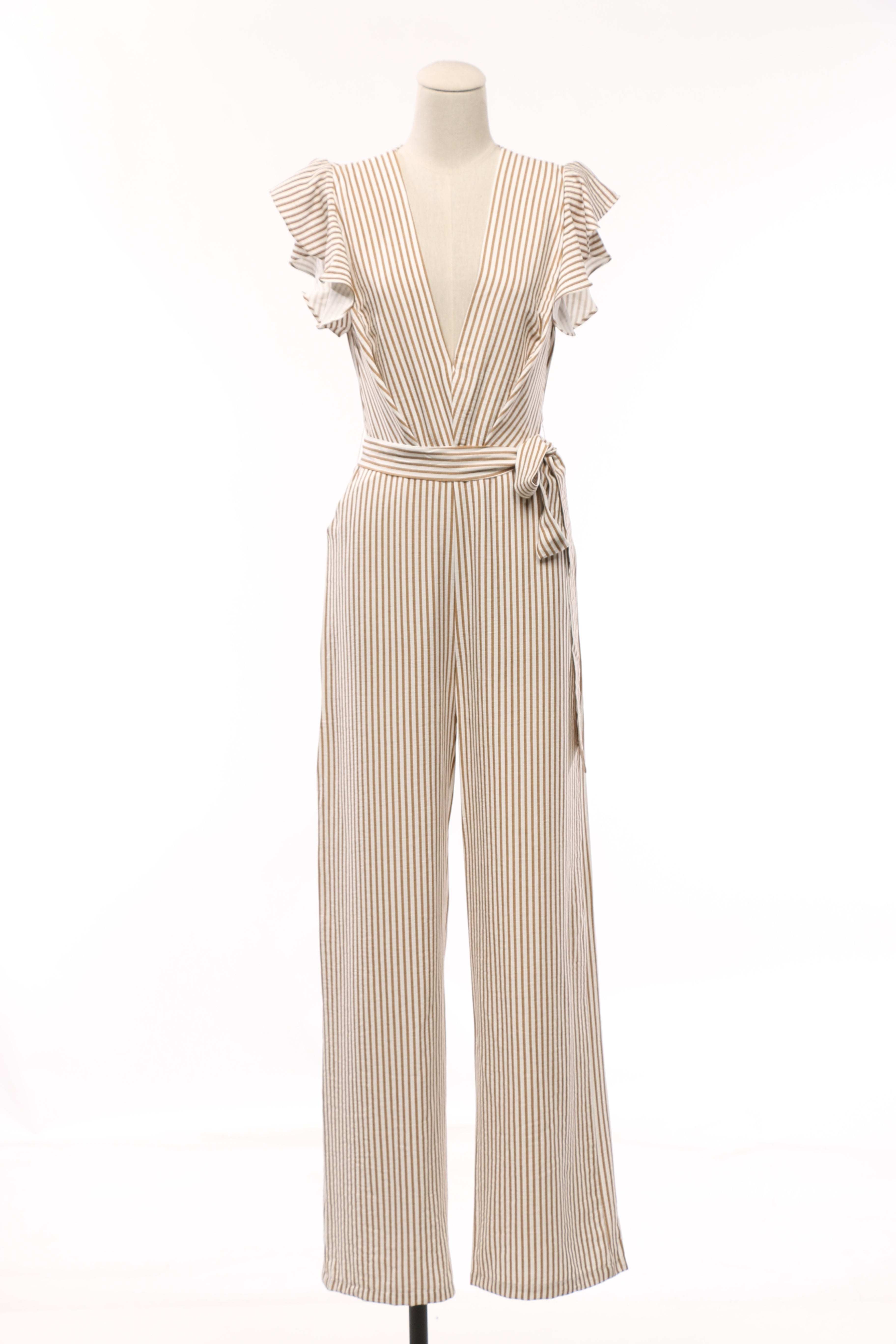 Breezin Striped Jumpsuit - OWLXFISH