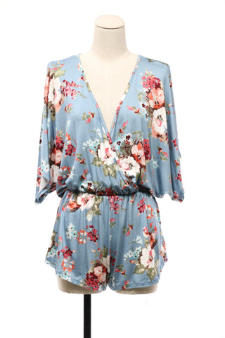 Tied Away With Floral Romper