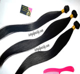 "22"" 24"" 26'"" 3 bundles Straight 100% human hair Brazilian virgin Hair - Remy Dynasty"