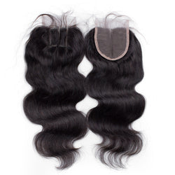 3 Way part Brazilian Virgin Hair Full lace Base Closure 4x4 Human Hair Closure With Baby Hair - Remy Dynasty