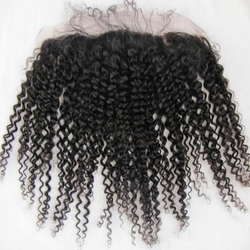 Kink curly lace frontal 13 by 4 with baby hair - Remy Dynasty