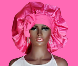 Satin Pink Bonnet